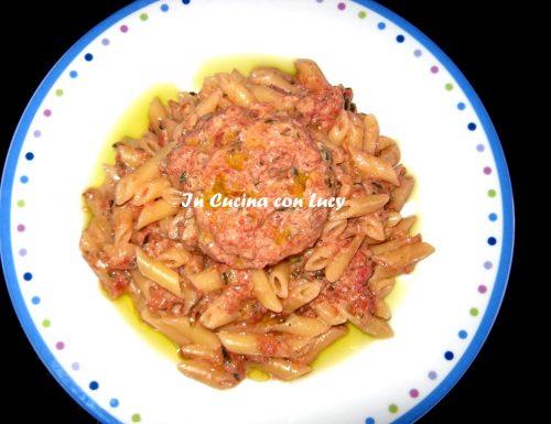Sugo di zucchine e barbabietola rossa