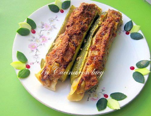 Zucchine vegetariane con ricotta di soia