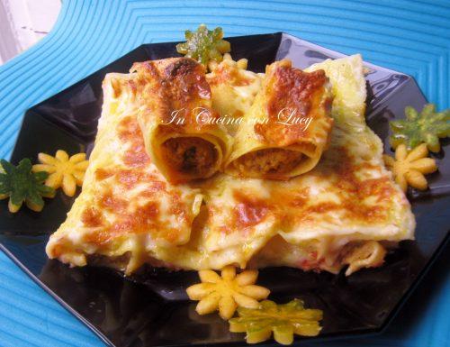 Cannelloni di zucca e ricotta di soia e amaretti