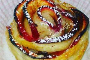 Rose di pasta brisè e mele.
