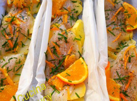 Platessa  all'arancia al forno