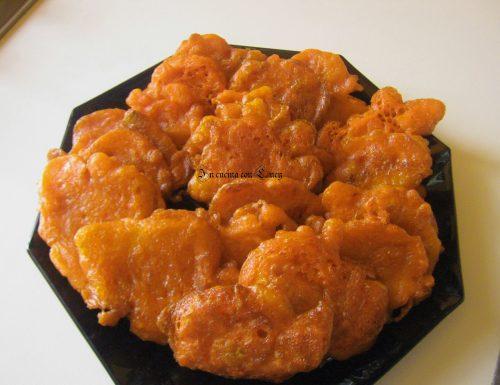 Zucca fritta in pastella al ginger.