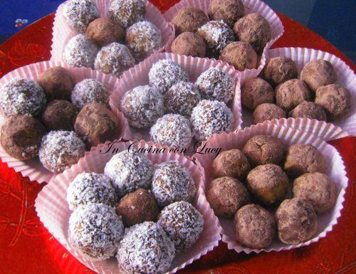 Palline di cioccolato e cocco.