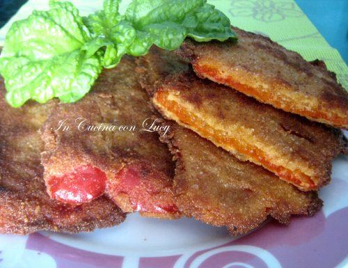 Bistecche di peperoni impanate