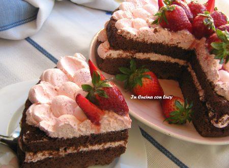Torta al Cioccolato e fragole senza glutine
