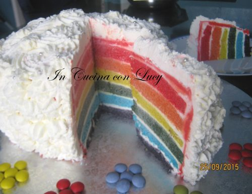 Torta arcobaleno rainbow cake.