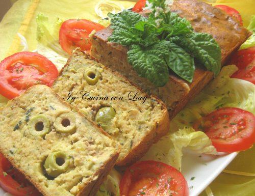 Polpettone di tonno patate e olive