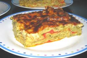 lasagne verdi con zucchine e tonno.