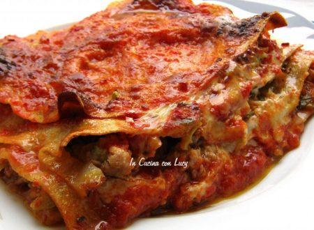 lasagne con zucchine,verza e tonno.
