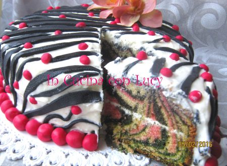 Zebra cake pink