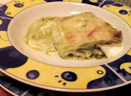 Lasagne al pesto di pistacchi e stracchino