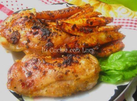Pollo ruspante con patate speziate