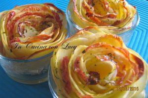 Rose di patate con pancetta e galbanino