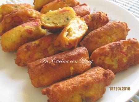 Quenelle di patate,gorgonzola e salame