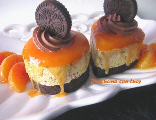 Mini cheesecake con salsa all'arancia