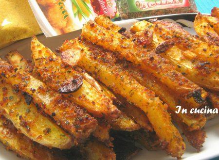 Stick di patate croccanti e aromatizzate al forno