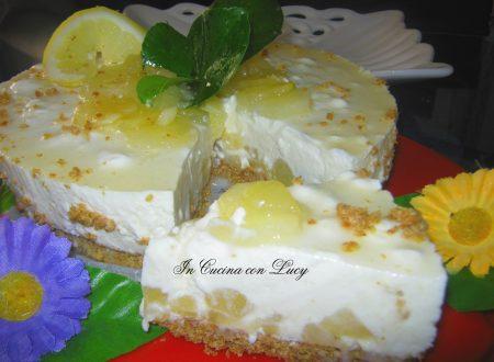 cheesecake alle pere ricotta e limoni