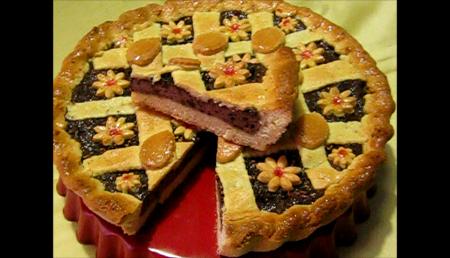 Crostata alla ricotta di soia mandorle  e cioccolato