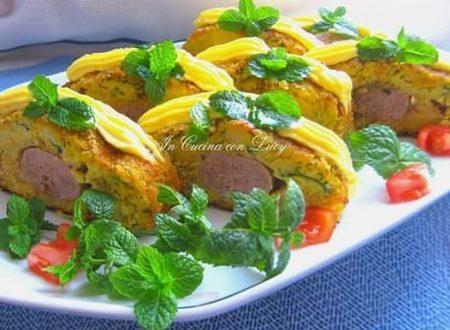 Polpettone di patate,zucchine  farcito.