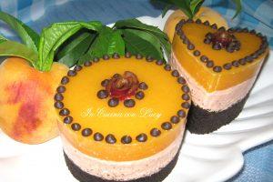 Cheesecake alle pesche noci