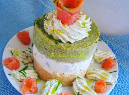Cheesecake al salmone e avocado