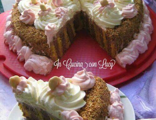 Torta girella bicolore