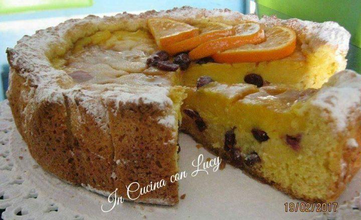 Crostata all' arancia e cioccolato bianco