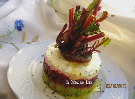 Tartarre di barbabietola rossa con avocado e feta