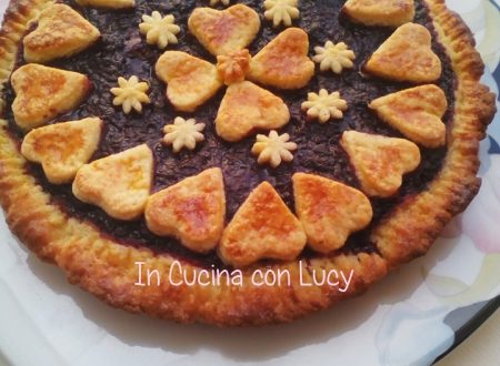Crostata all'olio light con frutti di bosco e stevia.