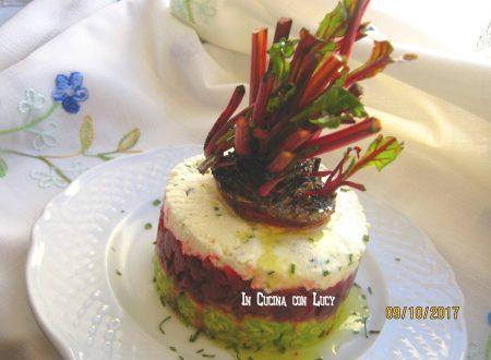 Tartare di barbabietola rossa con avocado e feta