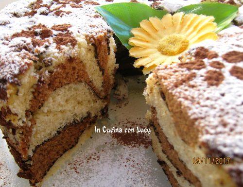 Chiffon cake giraffa al caffè e cacao