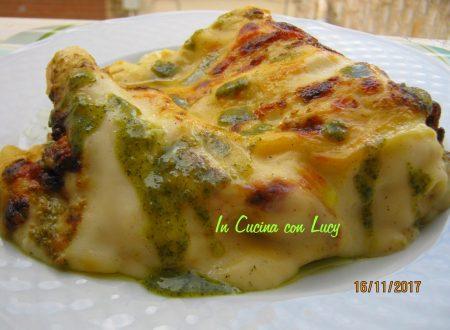 lasagne al pesto e provola dolce
