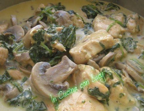 Pollo cremoso al parmigiano e funghi