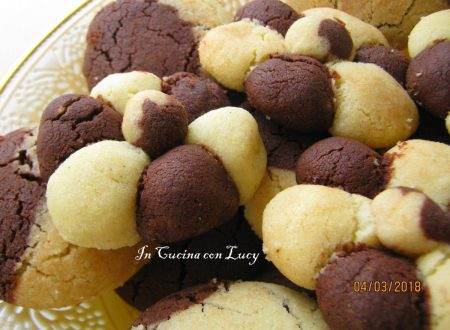 Biscotti cioccolato e vaniglia senza uova e burro.