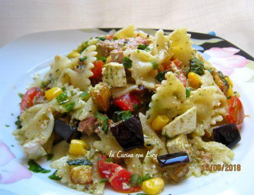 Pasta fredda(farfalle con verdure fresche)