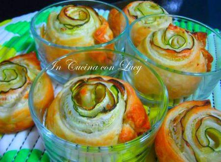 Rose di zucchine tonno e formaggio