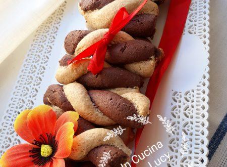 Biscotti bicolore all'olio d'oliva