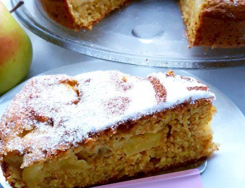 Torta di mele e arancia frullata integrale e senza zucchero